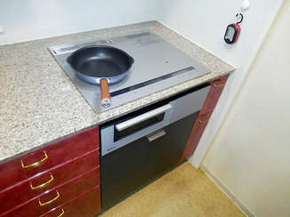 キッチンリフォーム 火の消し忘れを防ぐ、安心して料理ができるキッチン
